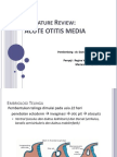 Literature Review Acute Otitis Media / Otitis Media Akut