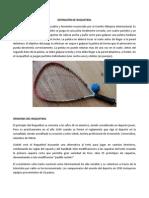 DEFINICIÓN DE RAQUETBOL Y BADMINTON