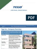 TEGO Offering Smart Asset Solutions