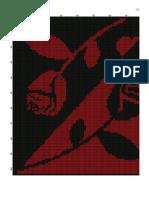 Monokróm piros-fekete rózsák