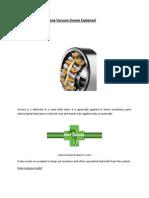 Silicone Vacuum Grease Explained