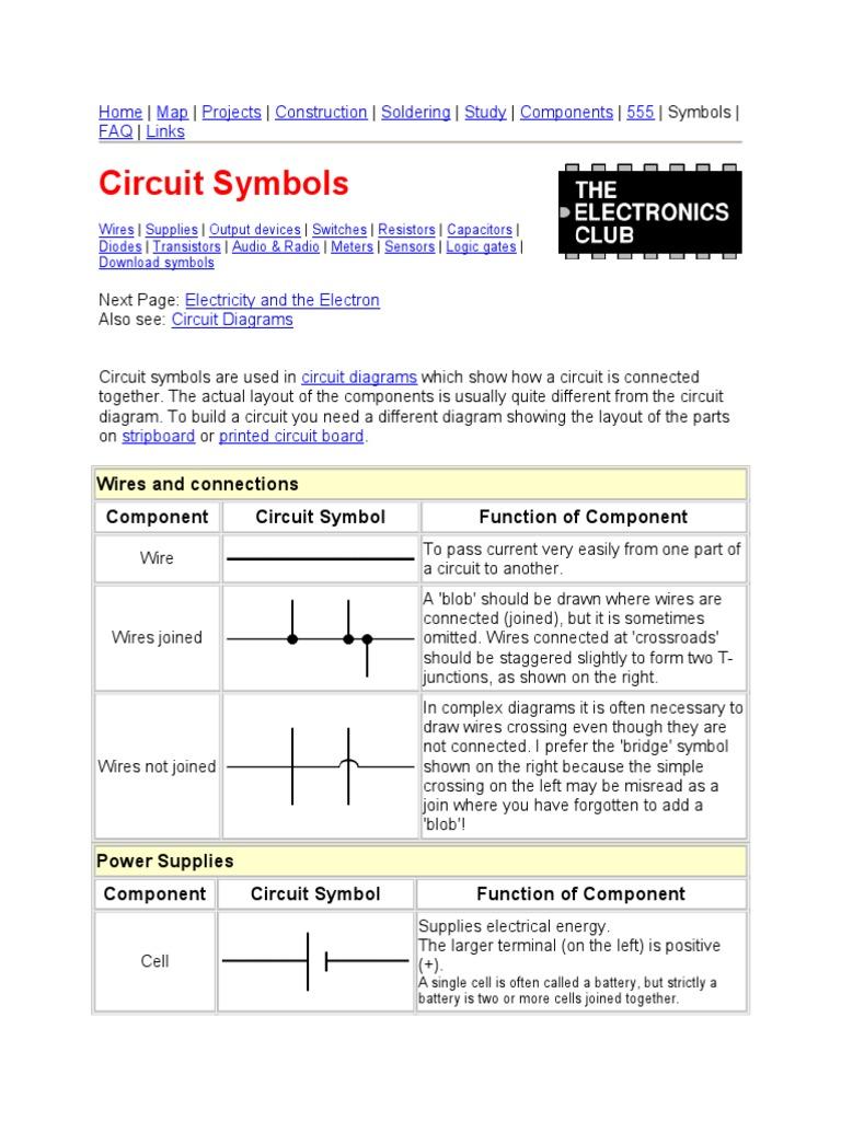 Electrical Diagram Symbols Further Basic Electronic Schematic Symbols