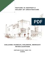 Phenomenology of Architecture