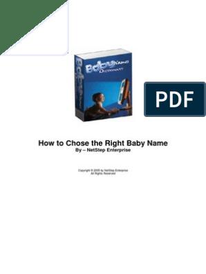 Baby Name Dictionary | E Books