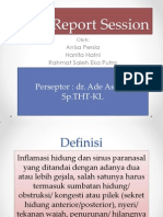 Case Report Session Sinusitis THT