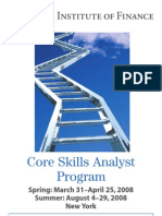 Core Skills Analysis Program 2008