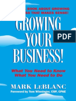 Mark Leblanc Growing Your Business Book