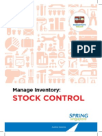 Spring Stock Control Productivity Toolkit 2013