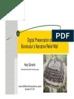 Digital Preservation of Borobudur_hary Gunarto