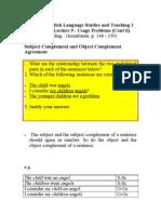 PE3011 English Language Studies and Teaching 1 Grammar Lecture 9