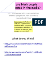 How Are Black People Represented in the MediaTES