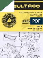 Bultaco Frontera Mk-9 Despiece