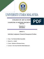 Financial Management Problem