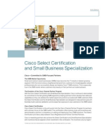 Cisco Select Certification & Small Business Specialization 090610
