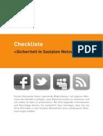Checkliste «Sicherheit in Sozialen Netzwerken»