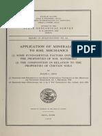 Application of Mineralogy to Soil Mechanics - Grim