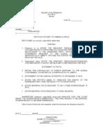 MyLegalWhiz - Petition for Writ of Habeas Corpus