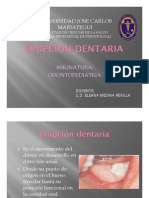 ERUPCION DENTARIA