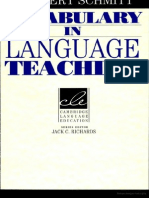 Vocabulary in Language Teaching Norbert Schmitt