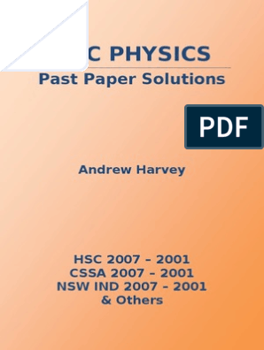 2001-2007 Hsc Physic Past Papers | Luminiferous Aether