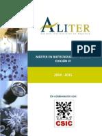 1. Master en Biotecnolog�a On Line marzo 2014 - Aliter