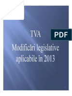 Suport TVA - Martie 2013
