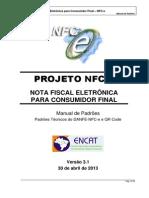 Manual de Especificacoes Tecnicas Do DANFE NFC-e QRCode Versao3.1!30!04 2013
