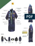 Uniformes e vestuário com distintivos - Escoteiros do Brasil