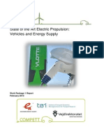 State of the Art Electric Propulsion Vehicles and Energy Supply