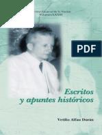 Alfau, Vetilio - Escritos y apuntes históricos
