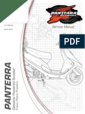 PANTERRA 50cc Street Scooter Service Manual   Carburetor