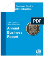 IRS-CI Fiscal Year 2013 Annual Business Report