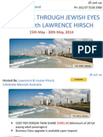 SEE ISRAEL THROUGH JEWISH EYES TOUR with LAWRENCE HIRSCH