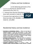 Residential Status Tax Ilu