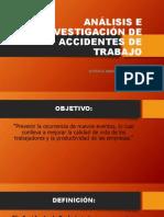 ANÁLISIS E INVESTIGACIÓN DE ACCIDENTES DE TRABAJO