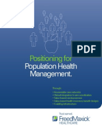 Positioning for Population Health Management