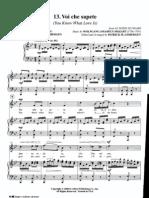 Voi Che Sapete - Le Nozze Di Figaro - Mozart - Pian