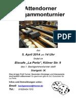 Backgammonturnier Attendorn