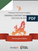 Hubspot Smart Insights Content Marketing Europe 2014
