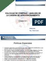 Politicas de Compras - Analisis de La Cadena