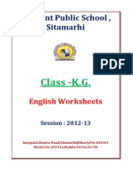 K.G. English-Worksheets Session 2012 2013