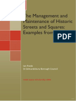 The Mgmt and Maintenance of Historic Streets and Squares