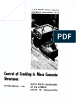 Control of Cracking in Mass Concrete Structures - EM34