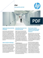 HP Data Protector Solution Brief Zero Downtime Backup for Oracle and SAP on HP-UX With 3PAR StoreServ