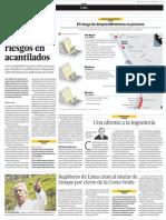 Edificios en  Barranco  agravan los  riesgos en  acantilado