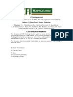 CFI Cautionary Statement