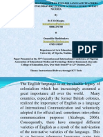 Ict Competencies of English Language Teachers in Unity