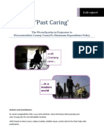 Past Caring (Worcs Max Expenditure Policy)