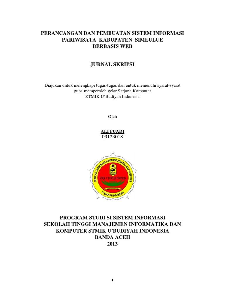 Ali Fuadi Jurnal Skripsi Perancangan Dan Pembuatan Sistem
