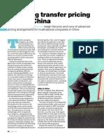 Managing TransferPricing Risk in China